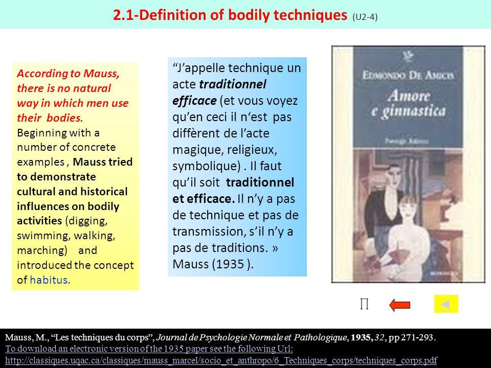 2.1-Definition of bodily techniques (U2-4)
