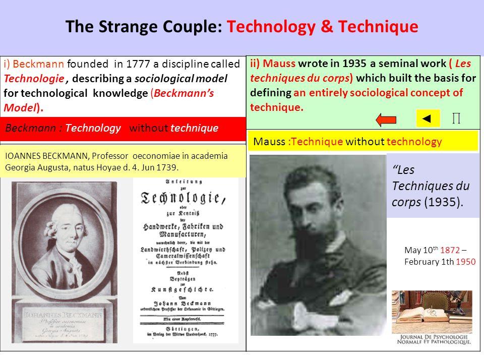 The Strange Couple: Technology & Technique