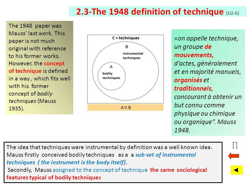 2.3-The 1948 definition of technique (U2-6)