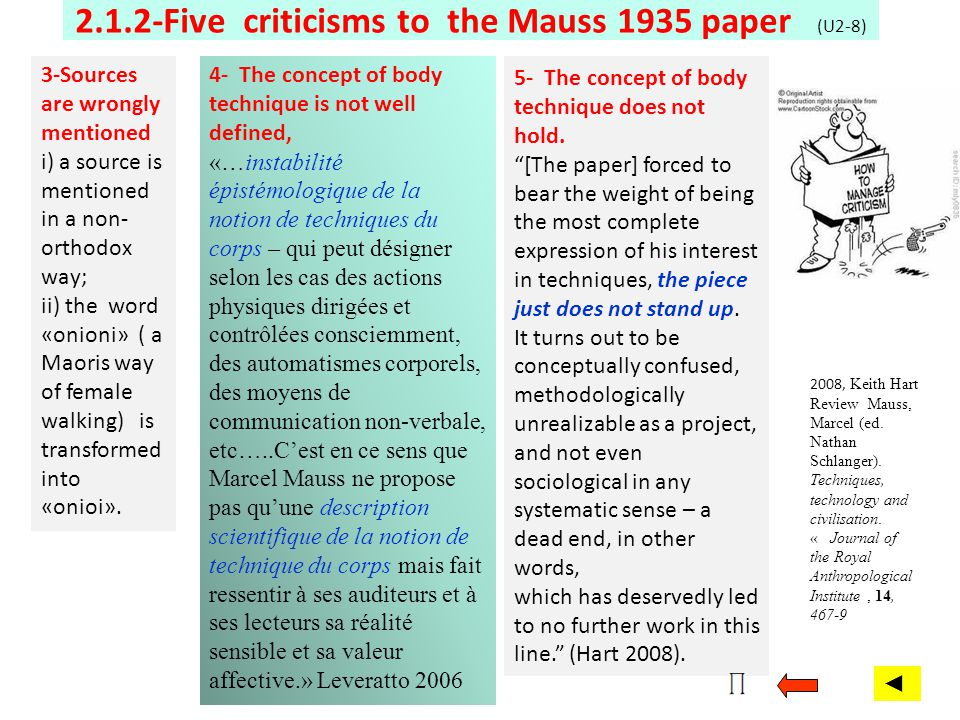 2.1.2-Five criticisms to the Mauss 1935 paper (U2-8)