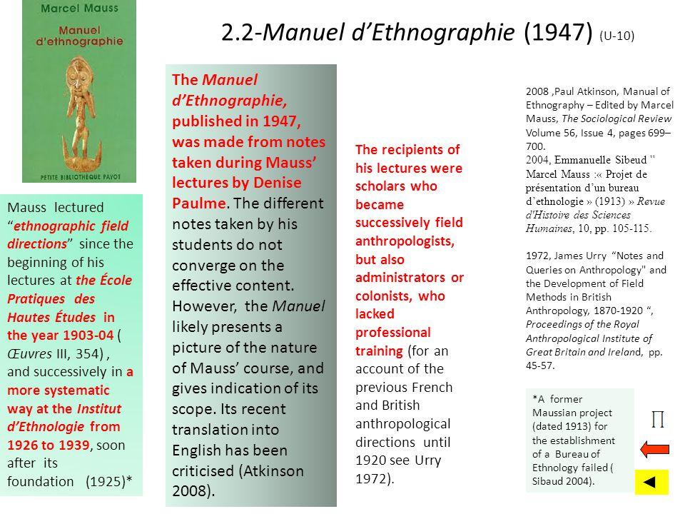 2.2-Manuel d'Ethnographie (1947) (U-10)