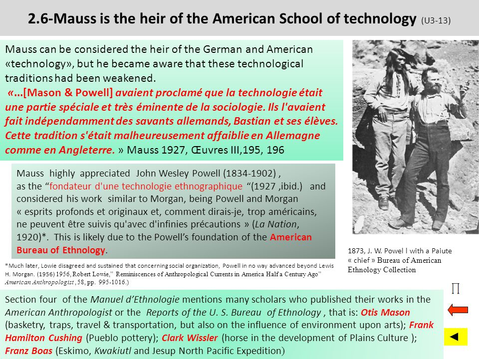 2.6-Mauss is the heir of the American School of technology (U3-13)