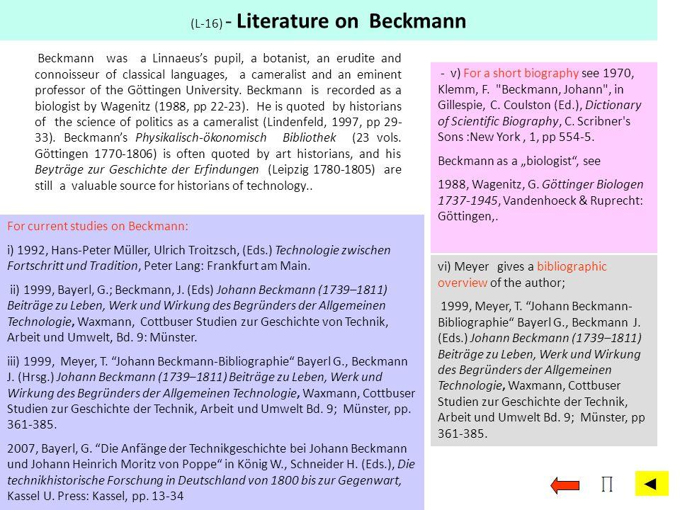 (L-16) - Literature on Beckmann
