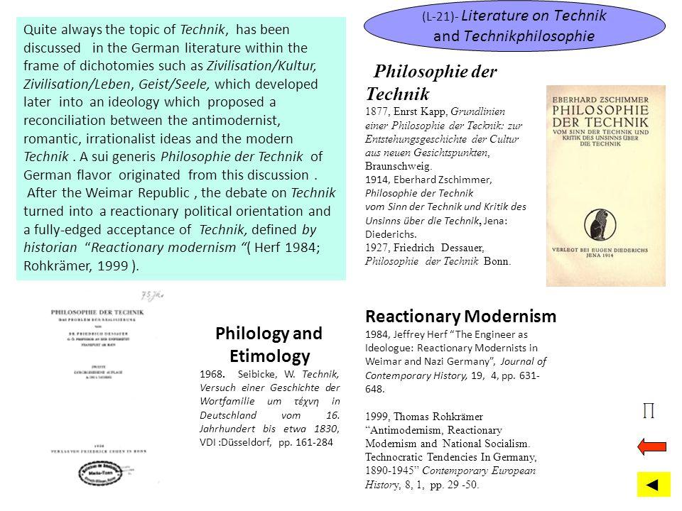 (L-21)- Literature on Technik and Technikphilosophie