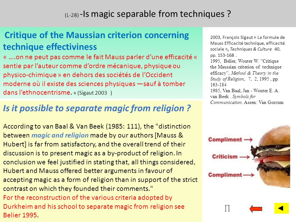 (L-28) -Is magic separable from techniques