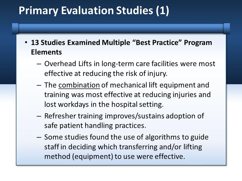 Primary Evaluation Studies (1)
