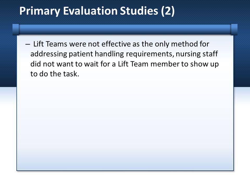 Primary Evaluation Studies (2)