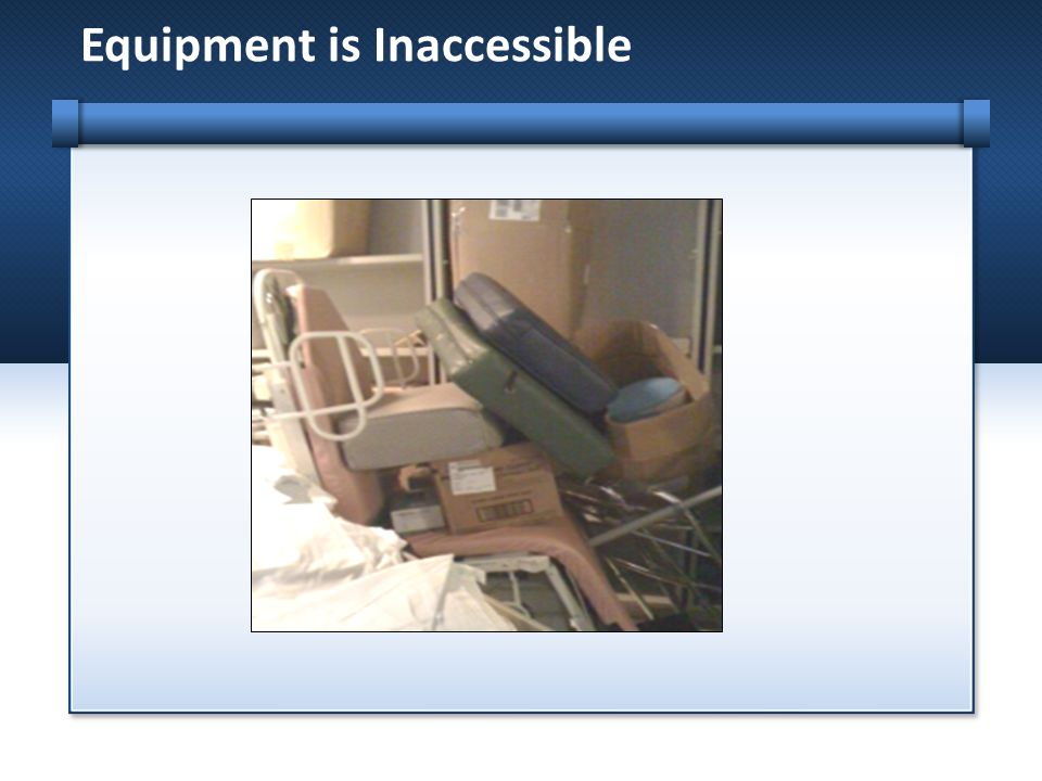 Equipment is Inaccessible