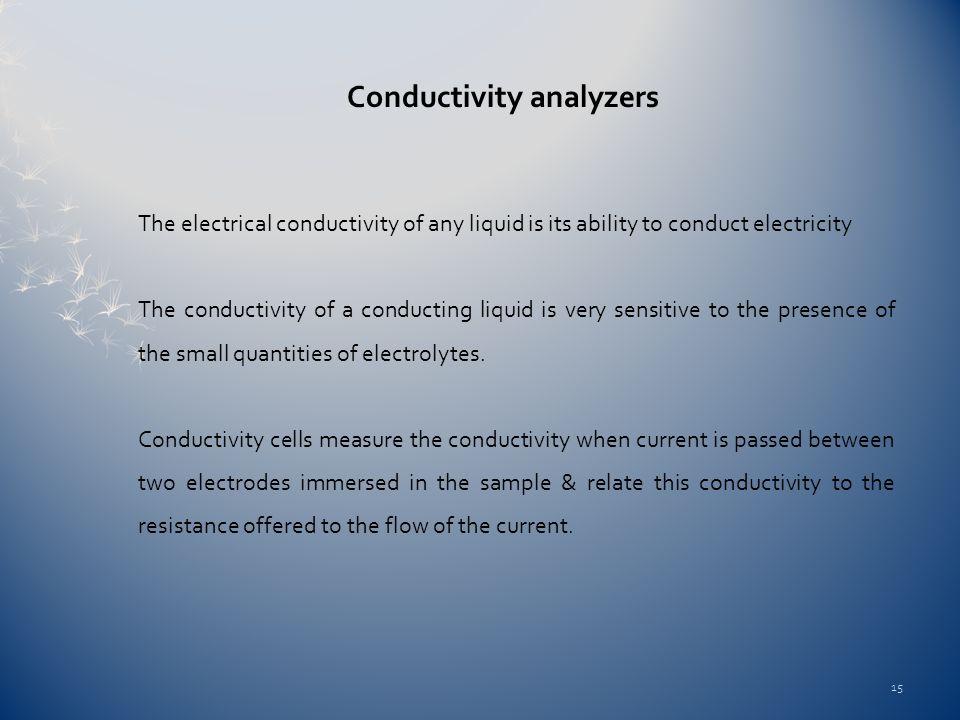 Conductivity analyzers