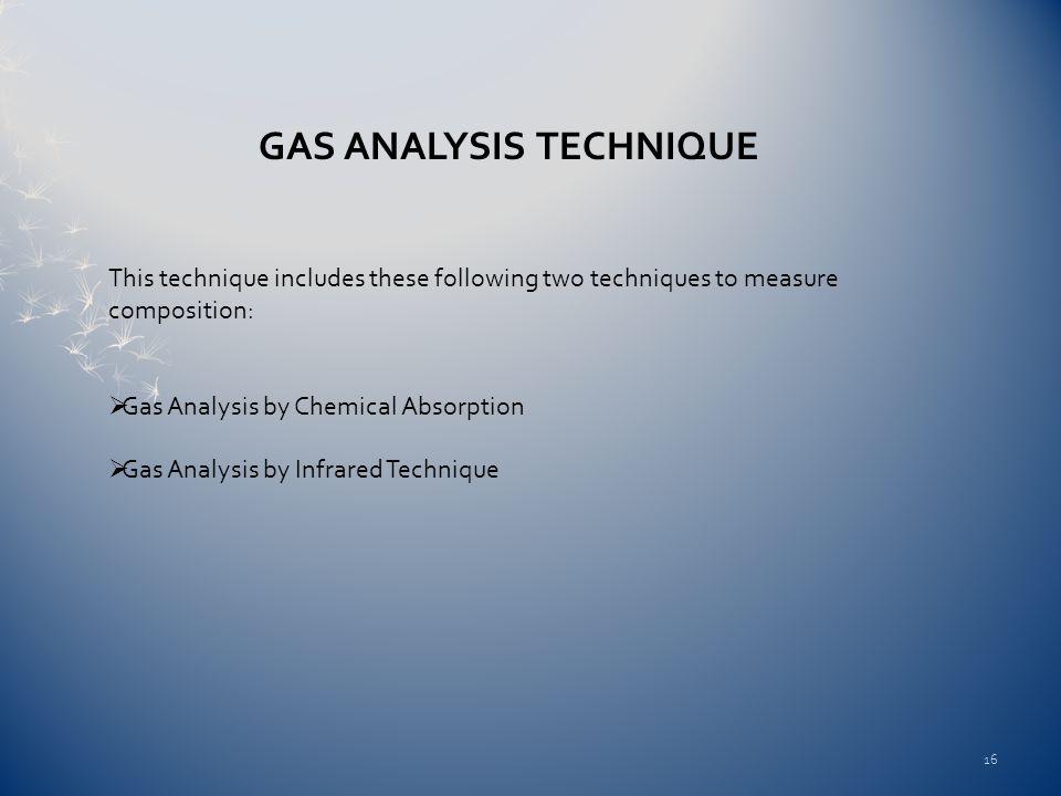 GAS ANALYSIS TECHNIQUE