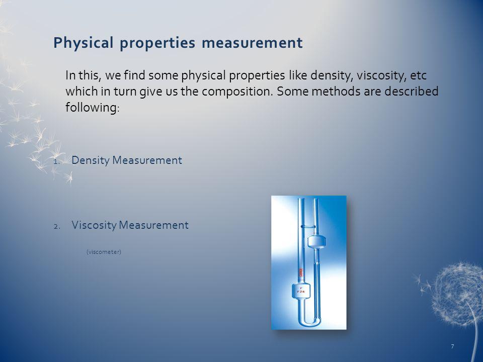 Physical properties measurement