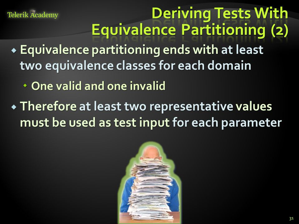 Deriving Tests With Equivalence Partitioning (2)