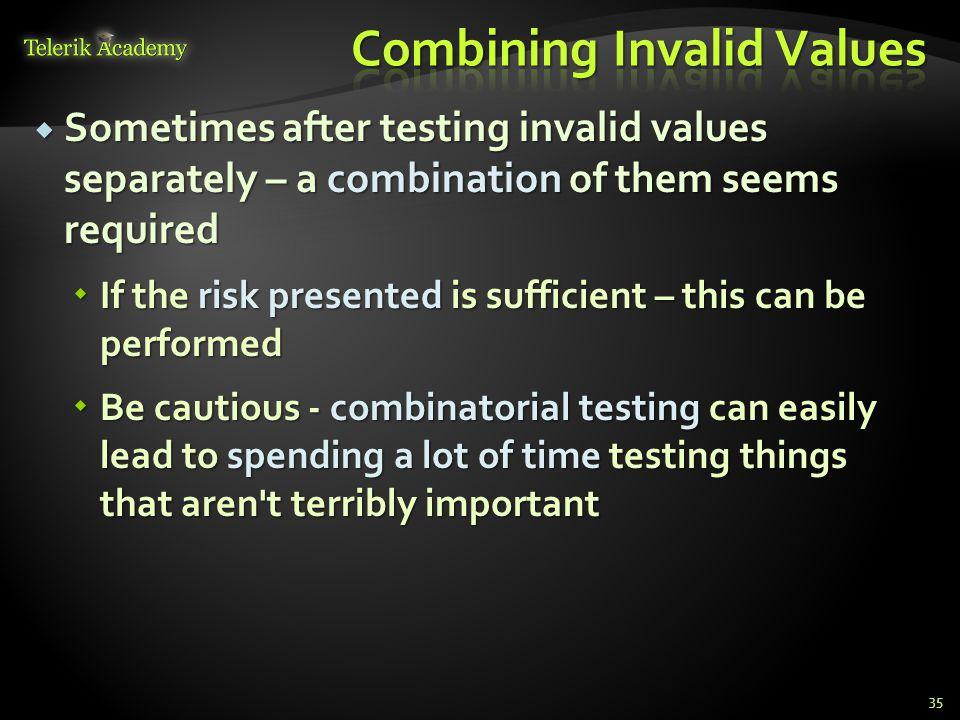 Combining Invalid Values
