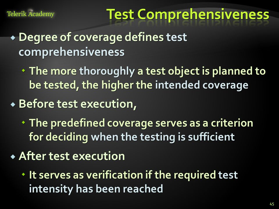 Test Comprehensiveness