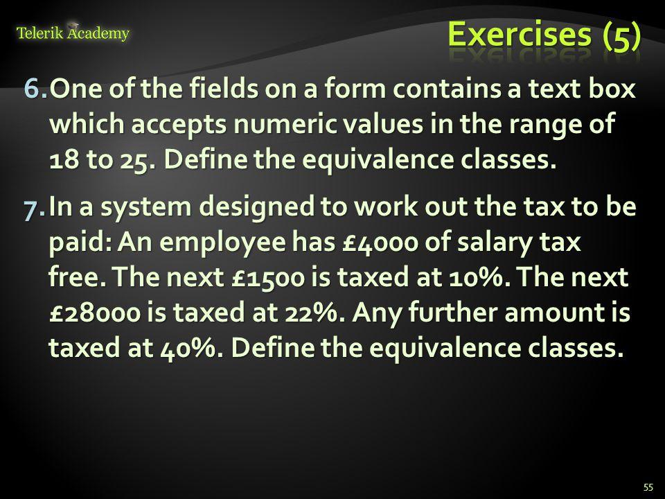 Exercises (5)