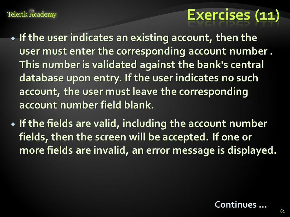 Exercises (11)