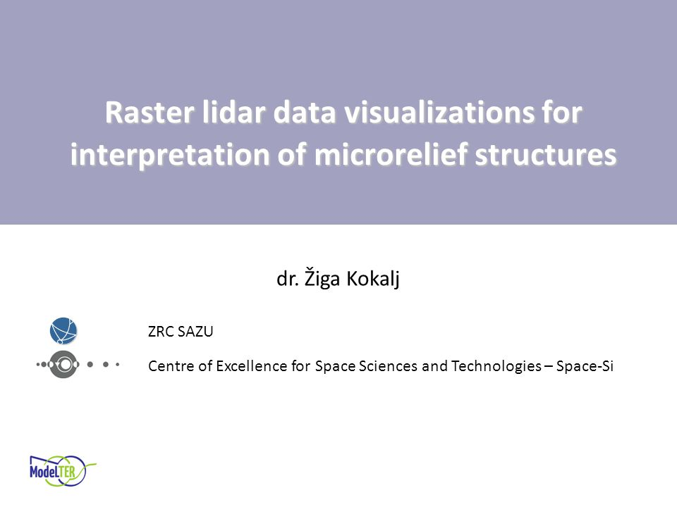 Raster lidar data visualizations for interpretation of microrelief structures