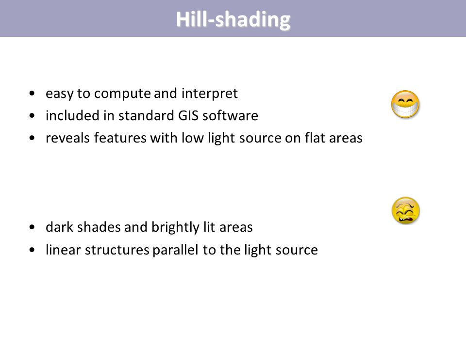 Hill-shading easy to compute and interpret