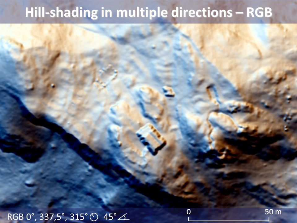 Hill-shading in multiple directions – RGB