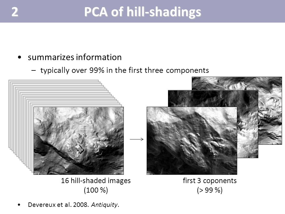 2 PCA of hill-shadings summarizes information