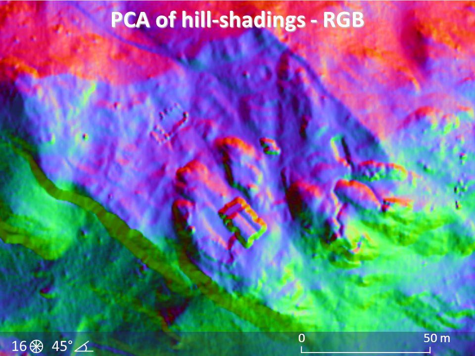 PCA of hill-shadings - RGB