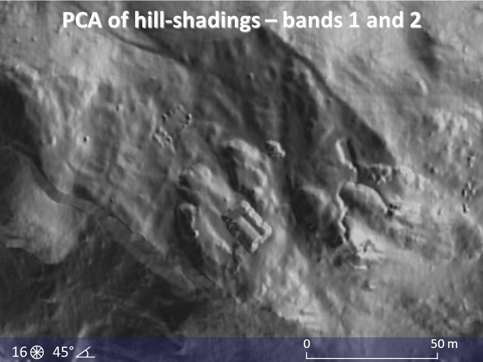 PCA of hill-shadings – bands 1 and 2