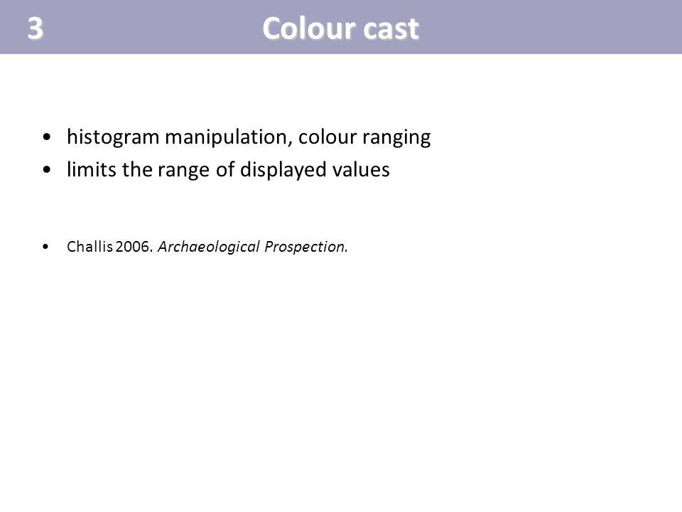 3 Colour cast histogram manipulation, colour ranging