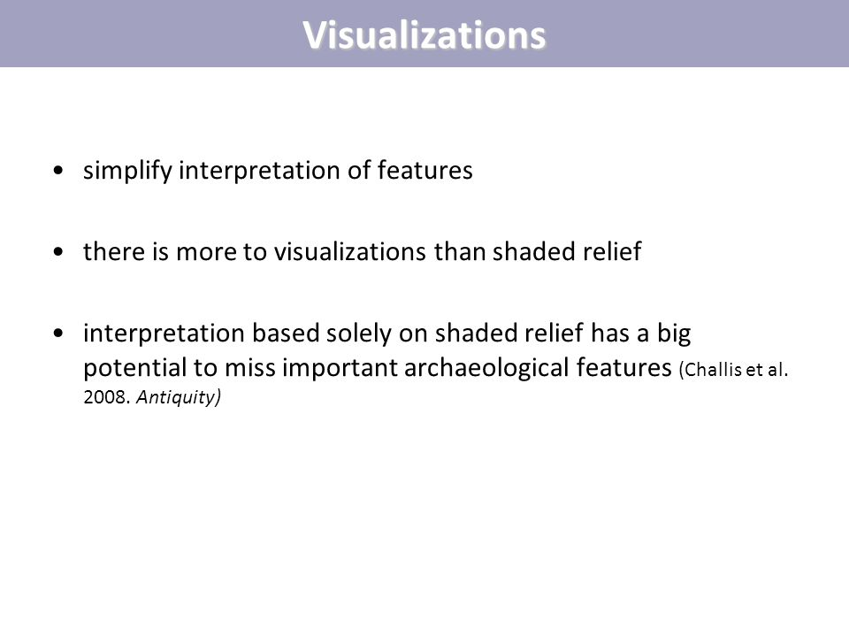 Visualizations simplify interpretation of features