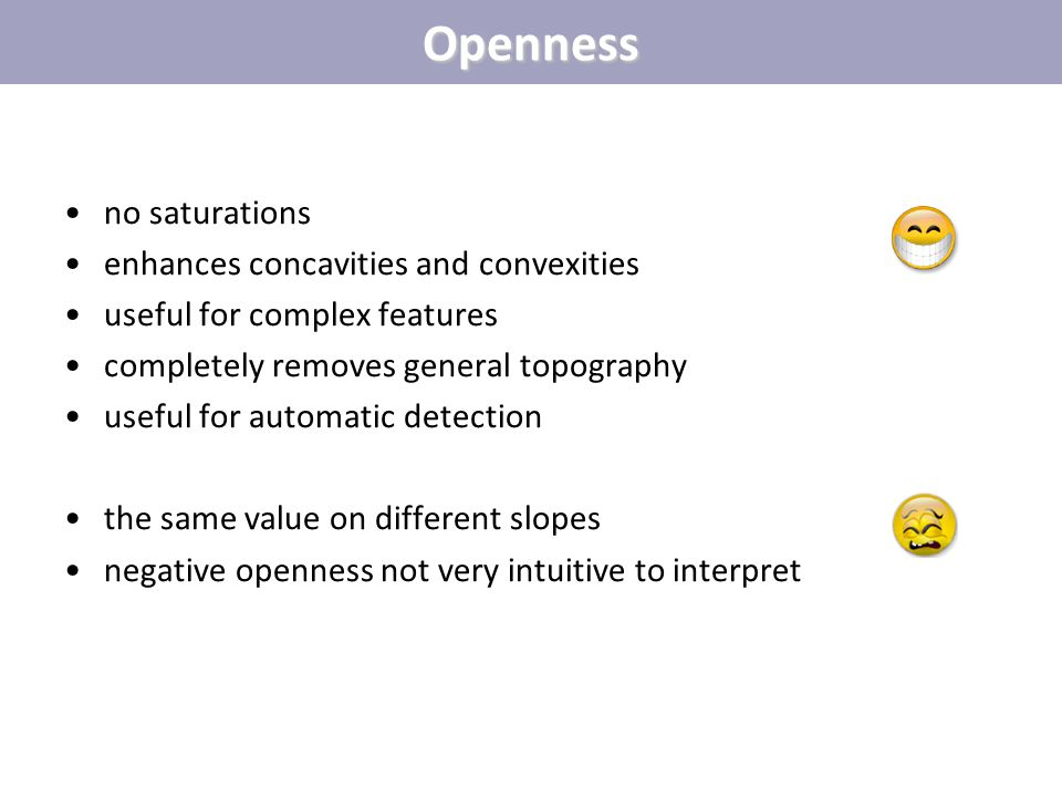 Openness no saturations enhances concavities and convexities