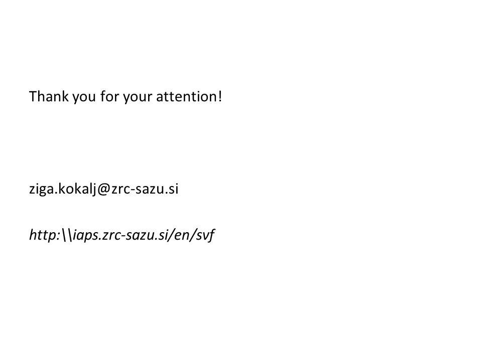 Thank you for your attention. ziga. kokalj@zrc-sazu. si http:\\iaps
