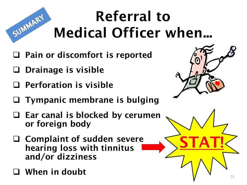 Referral to Medical Officer when...