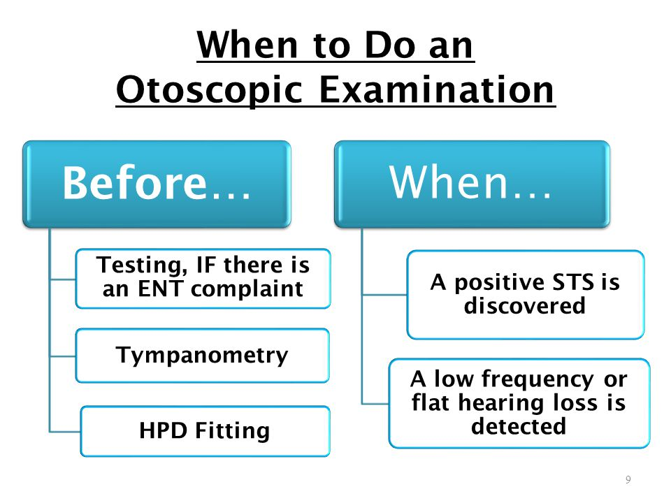 When to Do an Otoscopic Examination