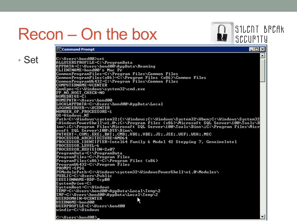 Recon – On the box Set