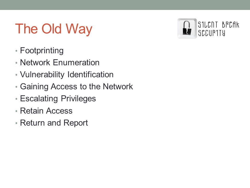 The Old Way Footprinting Network Enumeration