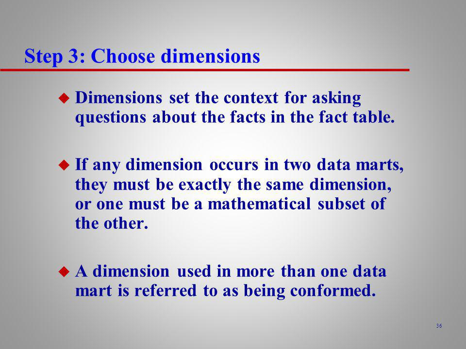 Step 3: Choose dimensions
