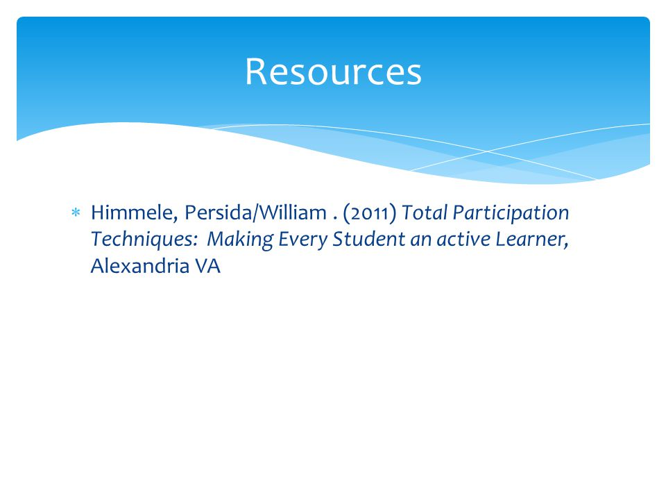 Resources Himmele, Persida/William .