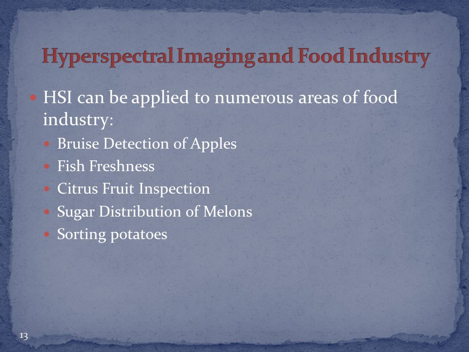 Hyperspectral Imaging and Food Industry