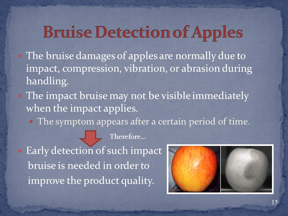 Bruise Detection of Apples