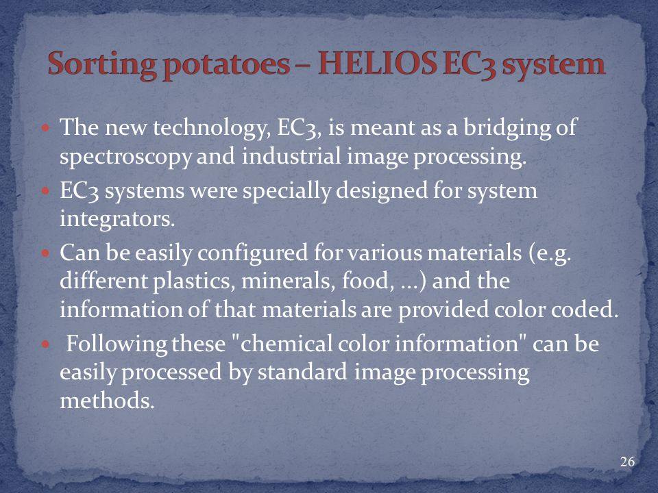 Sorting potatoes – HELIOS EC3 system