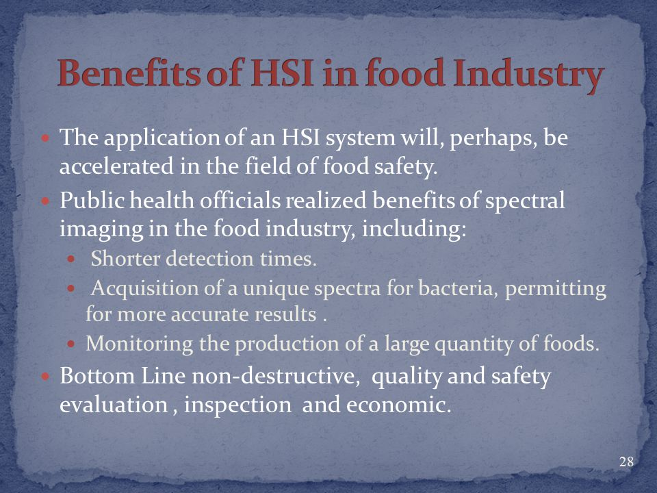 Benefits of HSI in food Industry