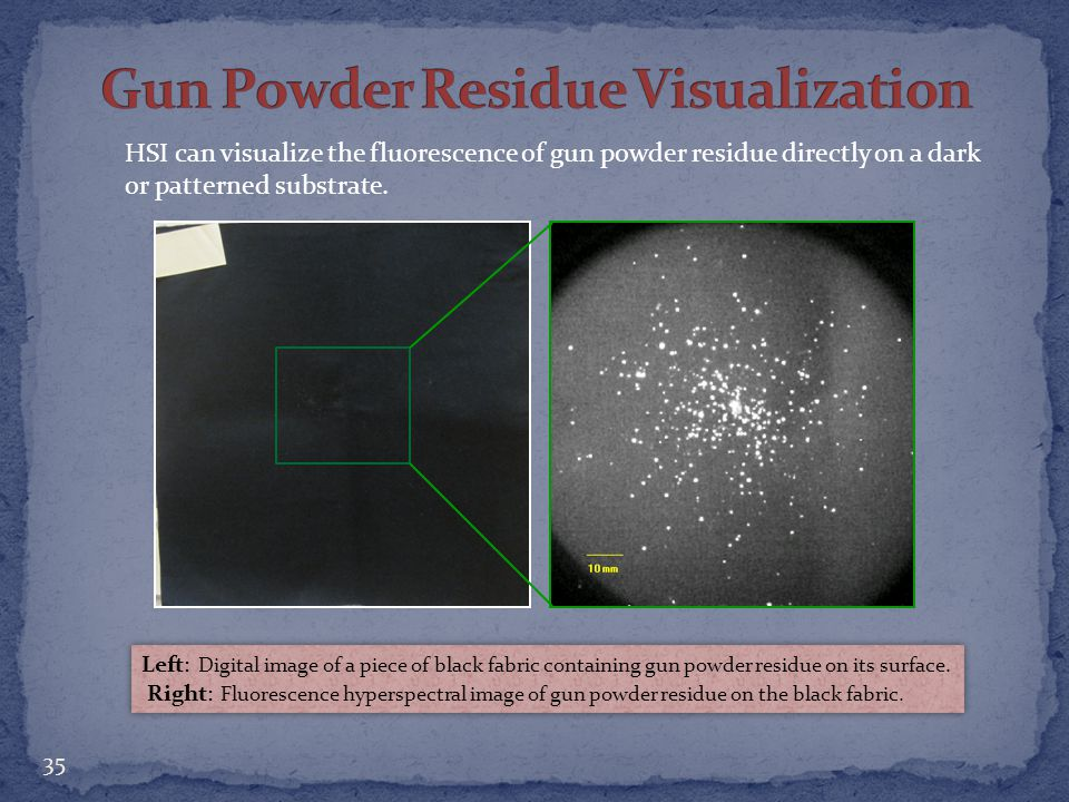 Gun Powder Residue Visualization