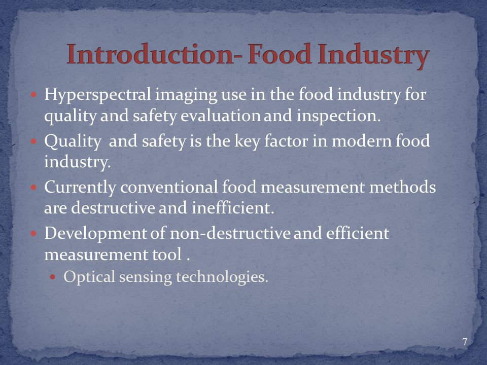 Introduction- Food Industry