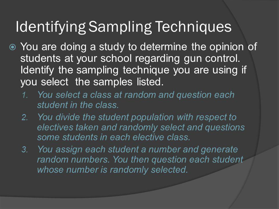 Identifying Sampling Techniques