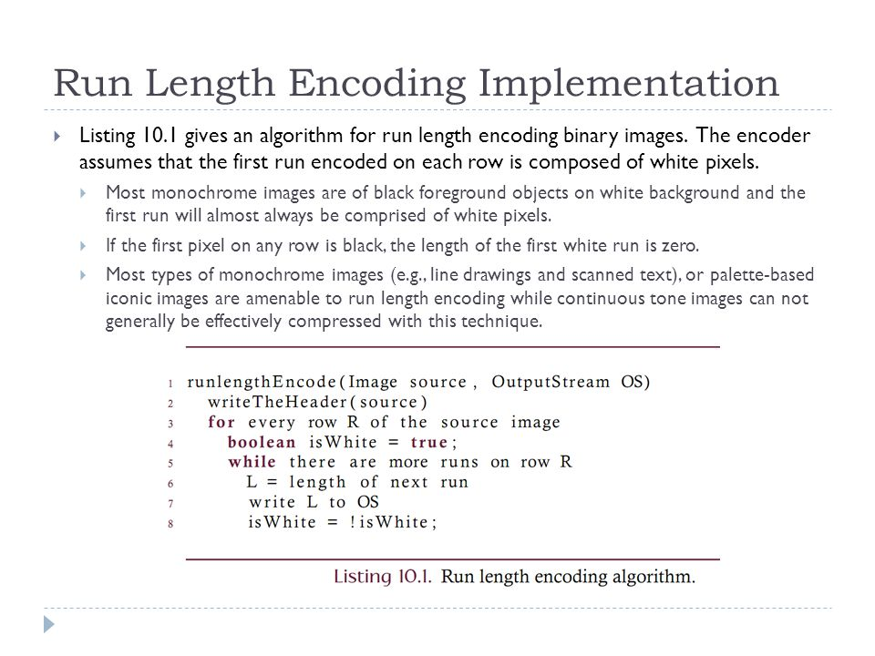 Run Length Encoding Implementation