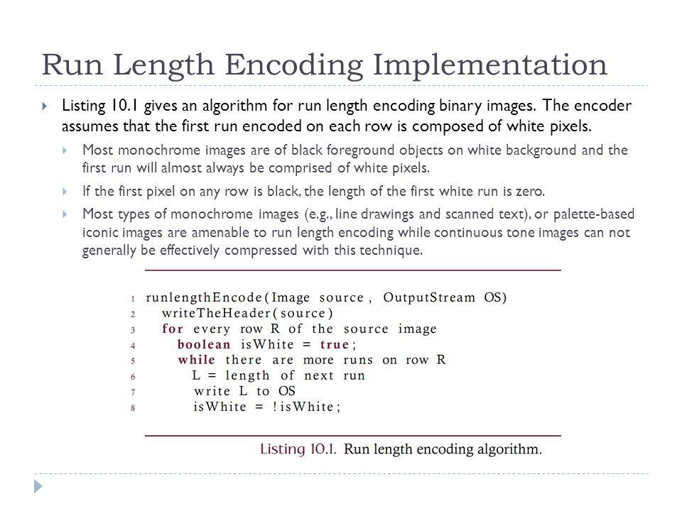 Run Length Encoding Implementation