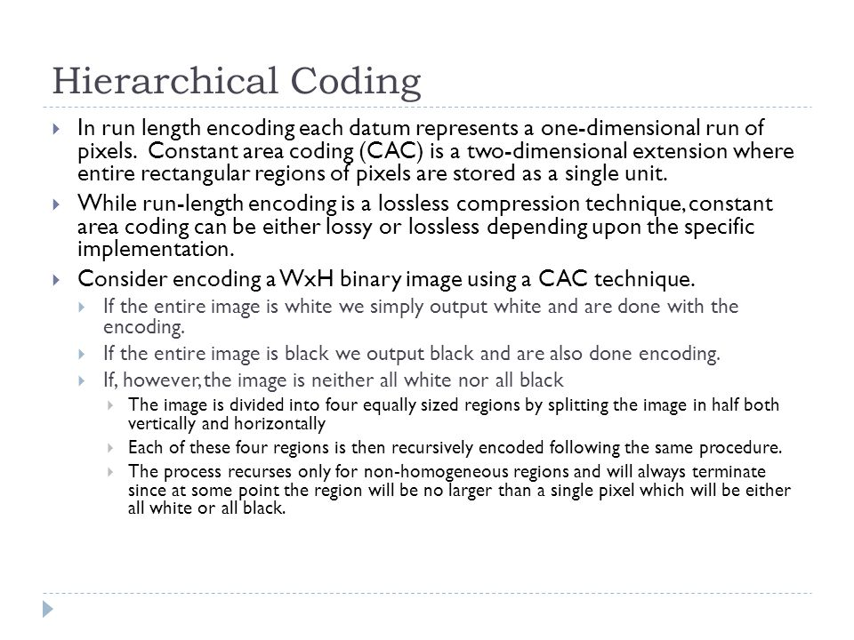 Hierarchical Coding