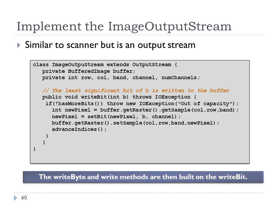 Implement the ImageOutputStream
