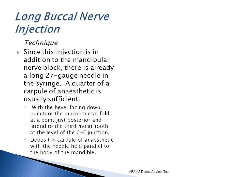 Long Buccal Nerve Injection