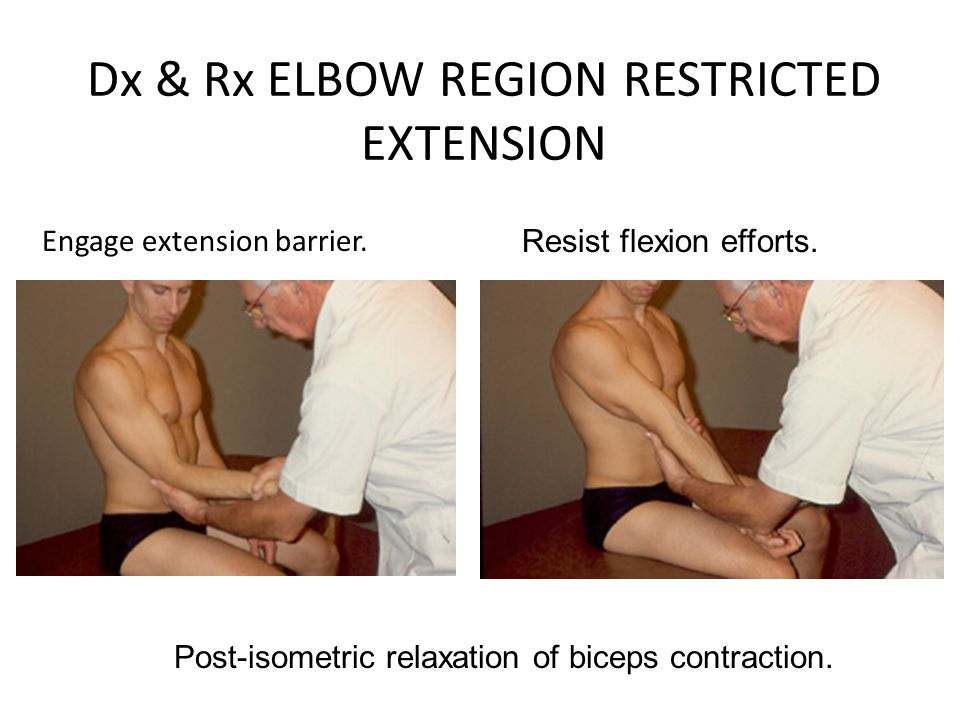 Dx & Rx ELBOW REGION RESTRICTED EXTENSION