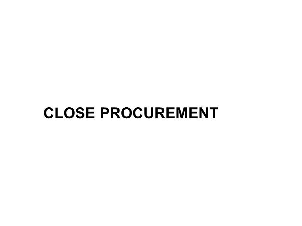 CLOSE PROCUREMENT
